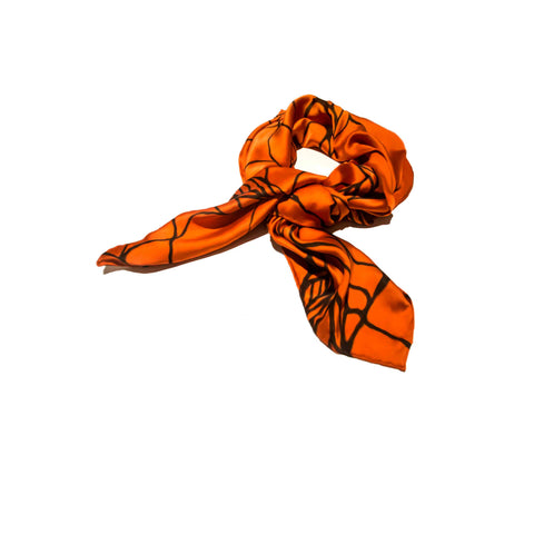 Krystyna - Classic Silk Scarf Painted