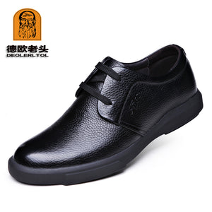 2017 Newly Men's Genuine Leather Shoes Zapatos de hombre The Top Head Leather Soft Man Dress Shoes
