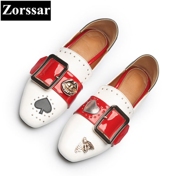 {Zorssar} women Fashion pumps square toe high heels Casual soft leather slip-on Leisure low heel shoes woman shoes size 33-43