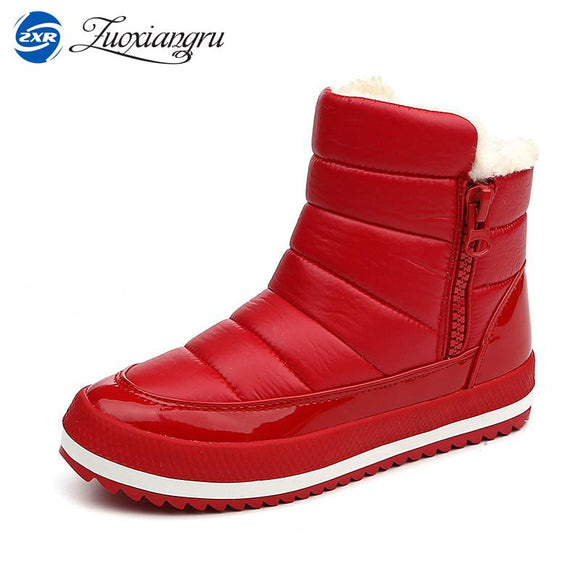 Zuoxiangru Women Boots 2017 Warm Winter Boots Women Ankle Botas Cotton Waterproof Female Mujer Winter Snow Shoes
