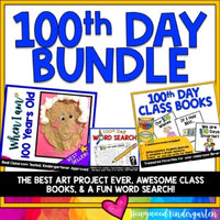 100TH DAY OF SCHOOL SUPER BUNDLE : Art , Class Books : Writing , Reading , FUN!