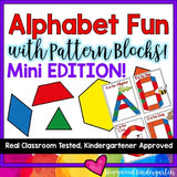 Alphabet Fun with Pattern Blocks -- MINI SIZED EDITION!