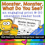Monsters and Colors ... Rhyming Emergent Reader Book ... What do you see?