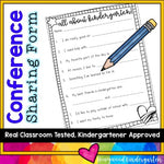 Parent Teacher Conference Student Sharing Form