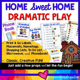 Home Dramatic Play Center ... Phone Book, Lists , Labels , Name Tags, Placemats