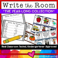 Write the Room :the Year Long Collection: Letters, Sounds, CVC, Blends, Digraphs