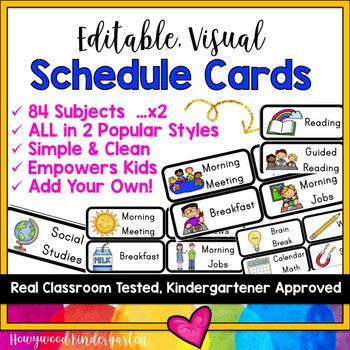 Visual Schedule Cards ... 168 Options in 2 Popular Styles! EDITABLE!