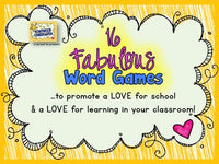 The BEST, FUN games for spelling , sight words , or popcorn word practice!