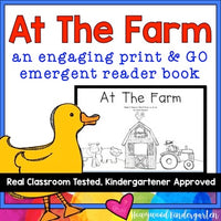 "Farm Emergent Reader Book: ""At the Farm"" Learn Sight Words"