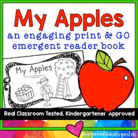 Apples ... Sight Word Emergent Reader Book! Learn Sight Words & Colors!
