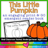 "Pumpkin Predictable, Rhyming Emergent Reader Book: ""This Little Pumpkin"""