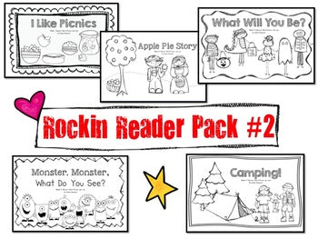 Sight Words Emergent Reader Books Pack #2! 5 Awesome Books!