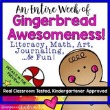 Gingerbread Man Activities Weeklong BUNDLE! Math . Literacy . Art . Journals