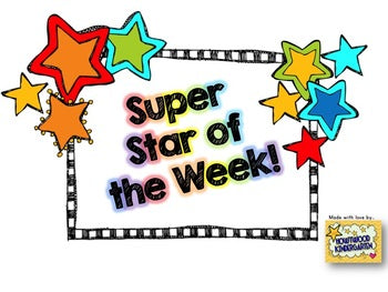 Editable Super Star of the Week Pack