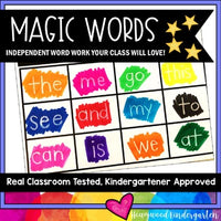 Magic Words . Spelling or Sight Word Work for ANY Words . Use All Year . SIMPLE.