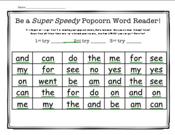 Editable Sight Word Reading Challenge! for homework or word work