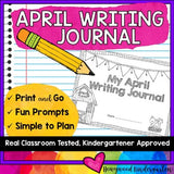 April Writing Journal . Print & Go . Personalized Goals . Engaging Prompts