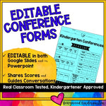 Conference Forms ... EDITABLE in Google Slides or Powerpoint