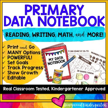 DATA BINDER for KINDERGARTEN or PRIMARY CLASSROOMS