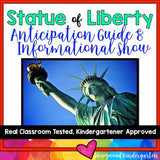 American Symbols : Statue of Liberty Anticipation Guide & AWESOME Show!!
