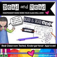 Bead & Read . Spelling or Sight Word Work for ANY Words . Use All Year . SIMPLE.