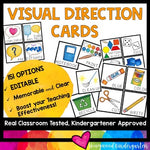 Visual Direction Cards - help kids SEE & remember what you want them to do!
