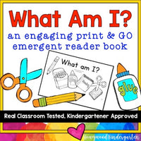 "Back to School Sight Word Emergent Reader Book: ""What Am I?"""