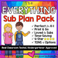 Editable Sub Binder & 10+ Days of Sub Plans & Activities!!! EVERYTHING you need!