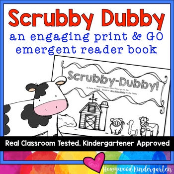 Farm Emergent Reader Book! Learn Sight Words & Reading!