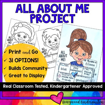 ALL ABOUT ME PROJECT ... Perfect for back to school & building community!