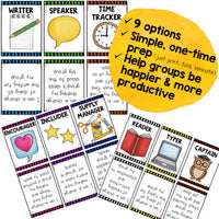 Group Work Role Cards ... Make Cooperative Learning More Productive & Fun!