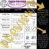 Crack the Code: May Edition for Google Earth : Math . Landforms . Teamwork . FUN