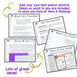 Meet the Teacher . Back to School . Completely EDITABLE Open House Packet