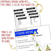 Pyramid Writing . Spelling or Sight Word Work for ANY Words . Use All Year .