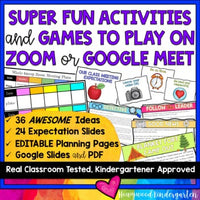 36 AWESOME ACTIVITIES & GAMES to use with ZOOM or Google Meet distance learning