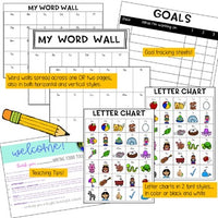 WRITING FOLDER TOOL KIT ... letter charts, goals, word walls, story ideas