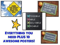 GROWTH MINDSET Print & Make Display PLUS 10 Inspirational Posters!
