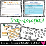 Sub Plans! Print & GO! Awesome activities to accompany ANY ABC book!