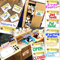 Vet Clinic Dramatic Play Center ... 14 Real X-rays , Forms , Labels , Name Tags
