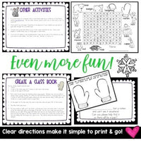 Sub Plans .. Print & GO! Awesome activities to accompany The Mitten by Jan Brett