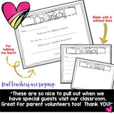 Thank You Note SUPER Pack! For volunteers , school workers , end of the year