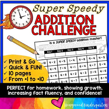 Addition Fact Fluency Math Game : PERFECT for distance learning, homework, FUN!