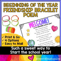 Beginning of the Year Friendship Bracelet Poem | simple, sweet gift | mail it