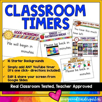 Classroom Timers for your Virtual Meeting on Zoom or Google... or in person!