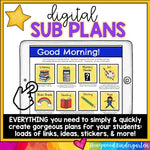 Digital Sub Plans Template : 100% EDITABLE Google Slides: share by email, Seesaw