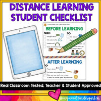 Distance Learning Checklist for Students ...to help set them up for SUCCESS!