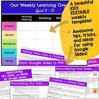Distance Learning Daily & Weekly Lesson Plan Templates & Stickers! Google Slides