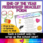 End of the Year Friendship Bracelet Poem | a simple, sweet gift | easy to mail