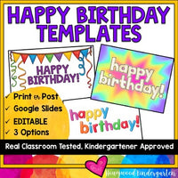 Happy Birthday Templates in Google Slides Perfect for Distance Learning