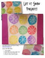 Let it Snow Art Project! Simple, bright, fun for winter ... and FREE!